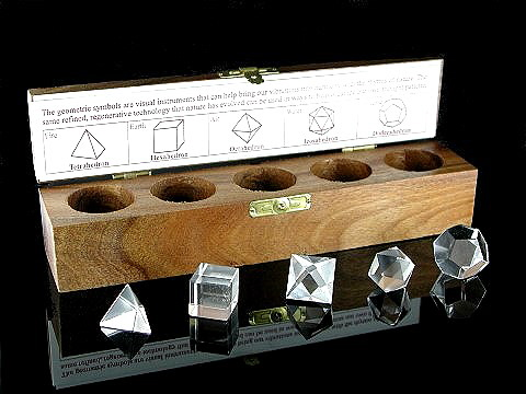 Clear Quartz Boxed Platonic Solids