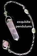 Rose Quartz Heart Pendulum in 925 sterling silver